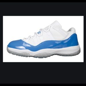 White blue air Jordan 11 low retro